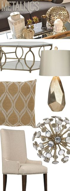 add some metallic accents to your home for a little sparkle and shine shop online gold home decorhome - Gold Home Decor