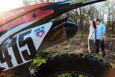 Cool Creative Motocross Bike Engagement Photo | NJ Wedding Photographer | Elyse Jankowski Photography
