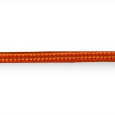 Bright Orange 3 core plain silk braided 6mm light flex