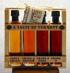 Vermont Maple Syrup Grade tester-party favors