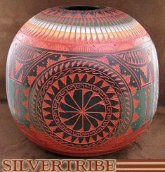 Navajo Indian Four Winds Pottery by Native American Artist Bernice Watchman