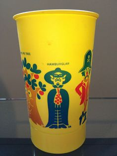 Antique Vintage McDonalds Cups Pair - Early Character Renditions - RARE!!!