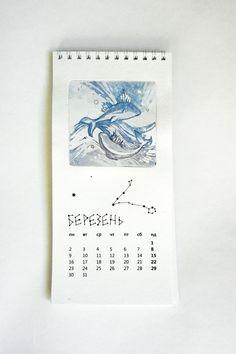 Calendar with zodiac on Behance