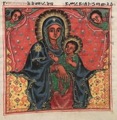 An illustration of Mary from Miracles of the Blessed Virgin Mary, a devotional book of the Ethiopian Orthodox Church.Ethiopia is one of the oldest Christian countries in the world and devotion to Mary has been flourishing there for many centuries.