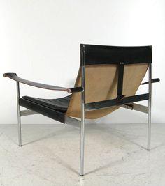 Hans Könecke; #D99 Chromed Metal and Leather Easy Chair for Tecta, 1965.