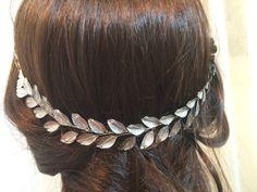 Silver wedding crown wedding headpiece bridal by FlowerRainbow