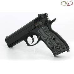 CZ 75 Palm Swell Tactical Diamonds Black Gray G10