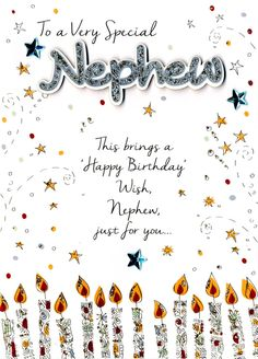 16 Design Happy Birthday Nephew Card Images Prince Louis is axis one! The youngest son of Prince William and Kate Middleton is adulatory his aboriginal altogether today, April and the aristocratic Birthday Greetings For Nephew, Birthday Message For Nephew, Happy Birthday Nephew Quotes, Happy Birthday Wishes For Him, Birthday Verses, Happy Birthday Wishes Cards, Birthday Wishes Quotes, Happy Birthday Images, Birthday Messages