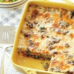 Spinach Alfredo Lasagna - EatingWell.com. Use zucchini in place of the lasagna noodles.