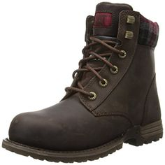 Caterpillar Womens Kenzie Steel Toe Work Boot Bark 6 M US ** Be sure to check out this awesome product.(This is an Amazon affiliate link and I receive a commission for the sales)