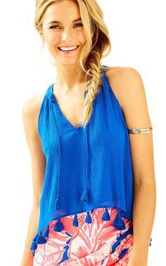 5a378c5b5b1c09 Lilly Pulitzer Womens Roxi Top Blue Crush, Tunic Shirt, Beach Dresses, Lilly  Pulitzer