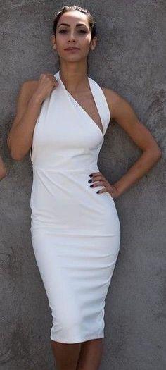 #summer #dashboutique #outfits | Midi White Dress