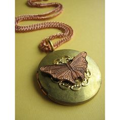 Butterfly old locket found on Polyvore
