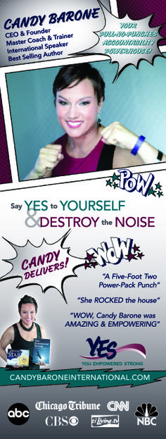 Candy Barone IS a POWERHOUSE and that's why her visual branding received an update with knock out design. Her retractable banner is sure to get the attention of her desired clients whenever she speaks. Learn more at www.backoftheroomproductions.com