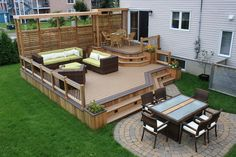 Simple Backyard Decks | Wooden Patio Design Ideas in the Backyard| Wooden Patio Design Ideas in the Backyard - Would love this in a back yard. Description from pinterest.com. I searched for this on bing.com/images