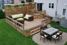 Jardines con deck