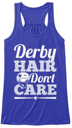 Derby Hair Don't Care  True Royal T-Shirt Front