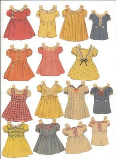 Queen Holden paper doll clothes