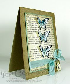 three butterflies by ilinacrouse - Cards and Paper Crafts at Splitcoaststampers