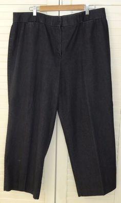 Larry Levine 20W Trouser Jeans Black Stretch    #LarryLevine #BootCut