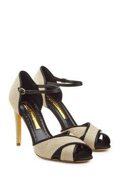 Stiletto Sandals with Raffia    Rupert Sanderson