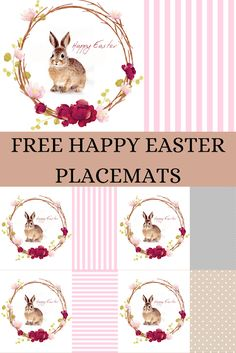 Free Easter Printable Placemats/ 4 designs Free Planner, Printable Planner, Easter Printables, Free Printables, Free Calendar, Crafts For Kids, Diy Crafts, Farmhouse Style Decorating, Do It Yourself Home