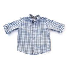 grey gingham button up shirt