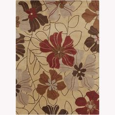 Shop for Artist's Loom Hand-tufted Transitional Floral Wool Rug (7'x10'). Get free shipping at Overstock.com - Your Online Home Decor Outlet Store! Get 5% in rewards with Club O! - 15439847