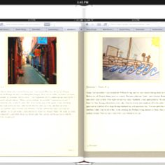 Pages from our blog books. Students have been blogging as a character from their novel. They are now taking screen shots with iPads and making them into books with book creator. They will voice over as well.