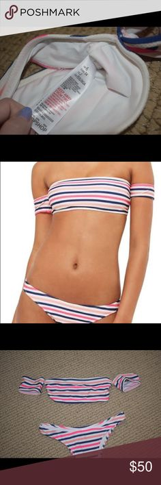 Striped Topshop Bikini Topshop Bikini  Worn once, still in perfect condition  Top size 2 Bottoms size 4 Topshop Swim Bikinis
