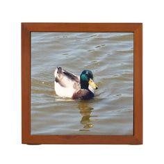 Mallard Duck Desk Organizer