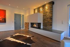 Good Photo Gas Fireplace stone Ideas The next wind storm external may be scary, however your flames can be so delightful! Corner Fireplace, House Design, Living Room With Fireplace, Barn Interior, Gas Fireplace, Stone Wall, Fireplace Decor, Fireplace, Home Garden Design