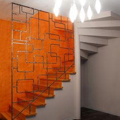 Amazing mid century staircase - great alternative to a railing