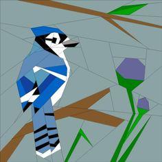 April BOM - Into the Wild - Bluejay   Craftsy