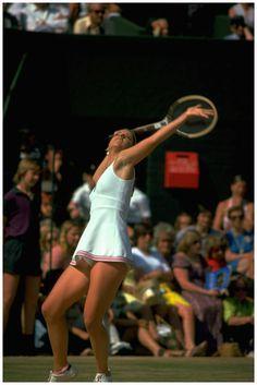 Chris Evert June 1975 Wimbledon Getty Archive