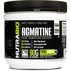 NutraBio Agmatine Sulfate Supplement Serving, of Powder) Biro, All In One, Powder, Pure Products, Workout, Amazon, Face Powder, Riding Habit, Work Outs