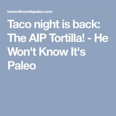 Taco night is back: The AIP Tortilla! - He Won't Know It's Paleo