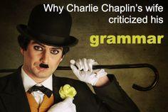 When Celebrities Gossip About Their Spouses'…Grammar? Writer Humor, Charlie Chaplin, Ben Affleck, Jennifer Garner, Celebrity Gossip, Scandal, Dumb And Dumber, Grammar, Divorce
