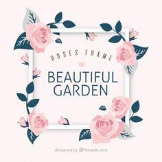Moldura de fundo com belas rosas decorativas