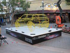 Range Rover Evoque wireframe installation @ Santa Monica's 3rd Street Promenade
