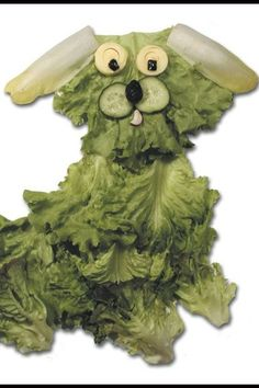 Esculturas de legumes e verduras