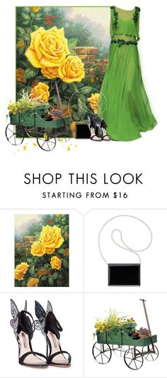 """Untitled #2400"" by m-aigul712 ❤ liked on Polyvore featuring Thomas Kinkade, Alberta Ferretti, Nine West and Sophia Webster"