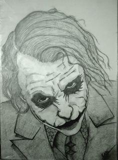 Joker Drawing #portrait #drawing çizim portre eskiz Joker Drawings, Art Drawings Sketches, Pencil Drawings, Best Joker Quotes, Joker Dc, Dc Comics Art, Sketchbooks, Painted Rocks, Drawing Ideas