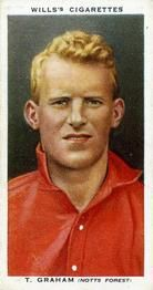1935-36 W.D. & H.O. Wills Association Footballers #15 Tommy Graham  Front