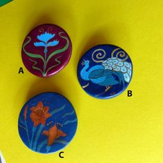 Brooches ! Choose one, two, all three !! - pinned by pin4etsy.com