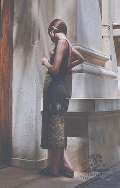Romanian hand-embroidered skirt by Folkwear-Society Wrap Around Skirt, 21st Century, Skirts, Folk, How To Wear, Beautiful, Vintage, Style, Fashion