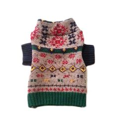 X Small Colorful Designer Dog Sweater