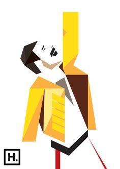 Freddie Mercury vector by hacklindesign Freddie Mercury Quotes, Queen Freddie Mercury, Cubism Art, Queen Art, Character Concept, Rock Art, Vector Design, Les Oeuvres, Illustration Art