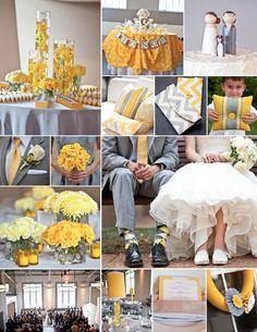 and Gray Wedding in St. Yellow Grey Weddings, Gray Weddings, Yellow Wedding, Summer Wedding, Our Wedding, Dream Wedding, Wedding Stuff, Wedding Color Pallet, Gray Wedding Colors