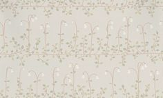 Linnea (554-21) - Sandberg Wallpapers - A pretty floral trail creating a horizontal stripe shown in grey with green and white. This is a paste the wall product. Please request a sample for true colour match.